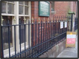 Gritblast, prime and topcoat iron railings